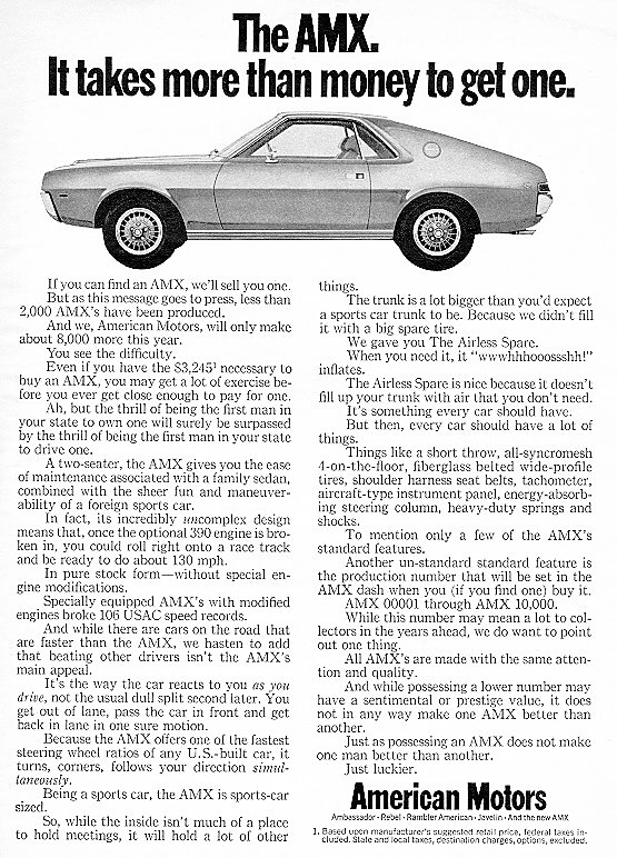 1971 Plymouth Barracuda Wiring Diagrams together with 74 Amc Javelin Parts likewise Amc Gremlin Wiring Harness Diagram furthermore 1969 Chevelle Fuel Line Diagram also 1968 Amx Wiring Diagram. on amc amx