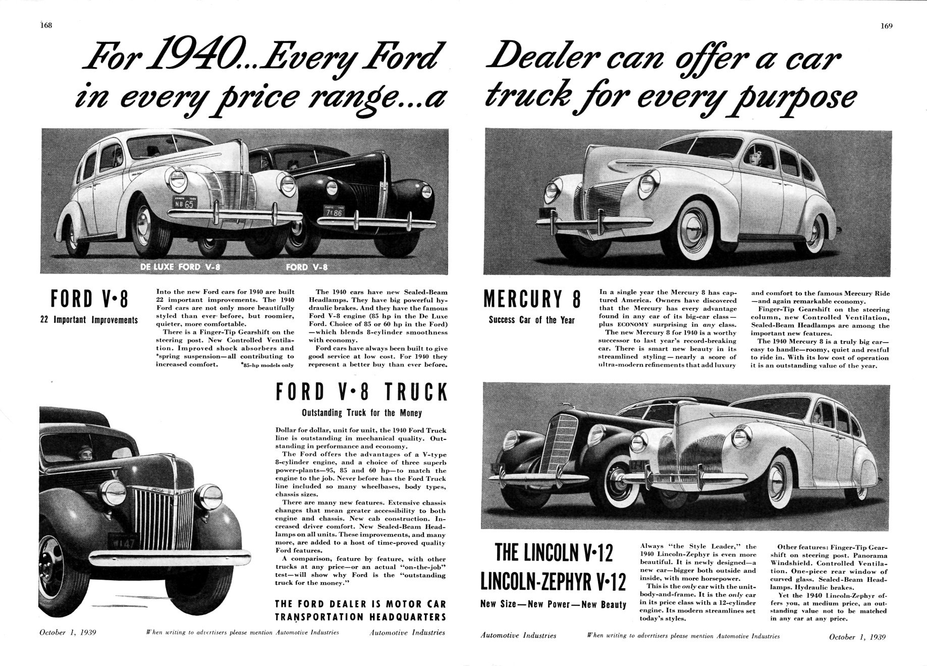 1940 fmc ad 01 for Ford motor company corporate