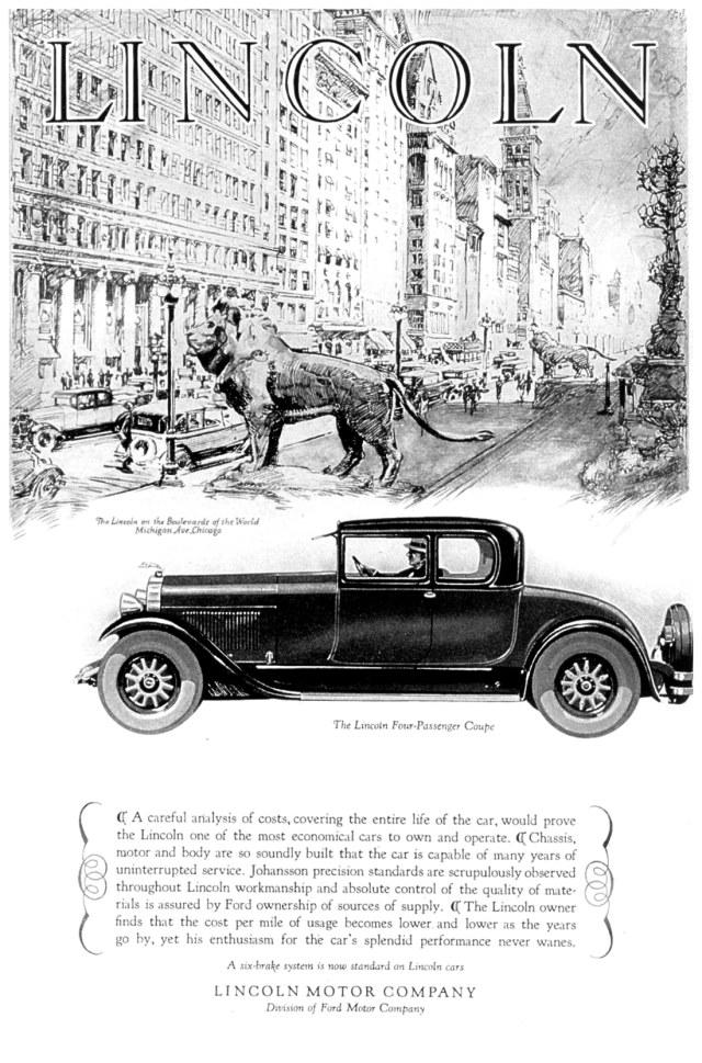 1927 lincoln ad 02 for Lincoln motor car company