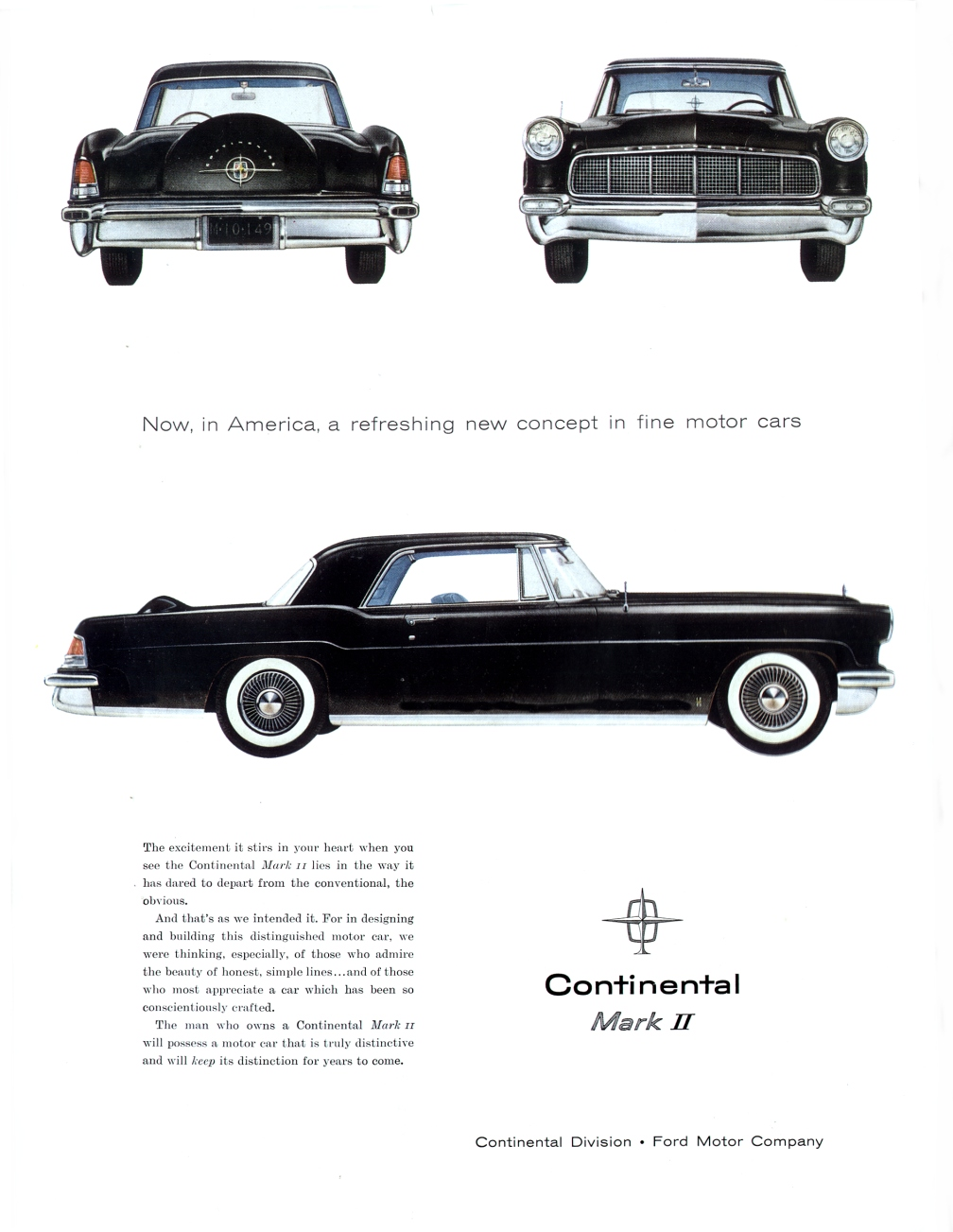 1956 lincoln continental ad 01 for Ford motor company truck division